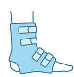 foot-ankle-brace-color-icon-vector-28886