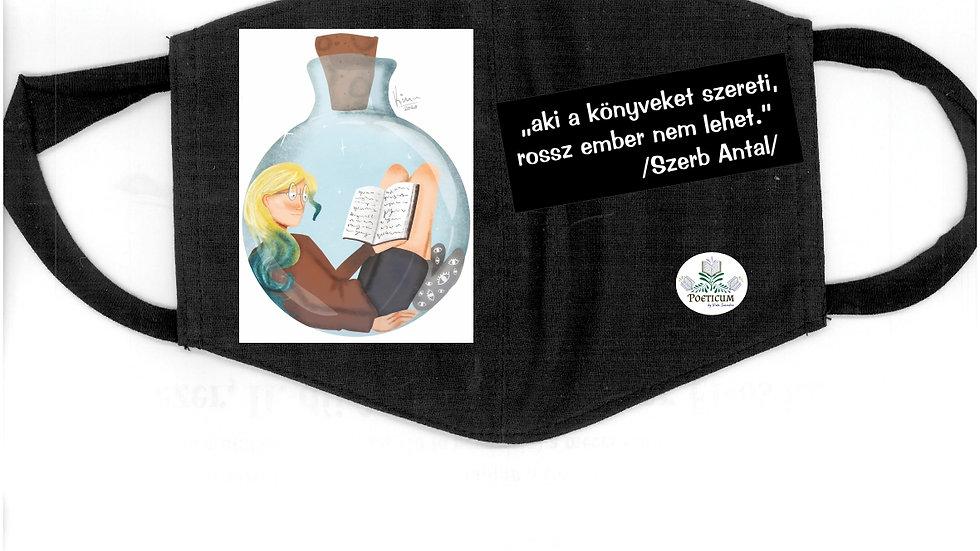 Egyedi, mosható maszk irodalmi idézettel
