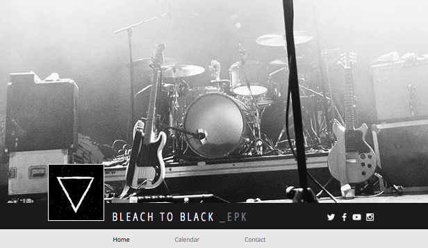 Band website templates – EPK - Musikere