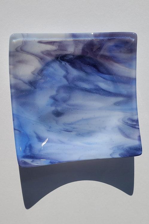 Purple, Blue & Opal Fused Glass Dish
