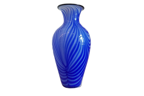 Blue & White Amphora Vase
