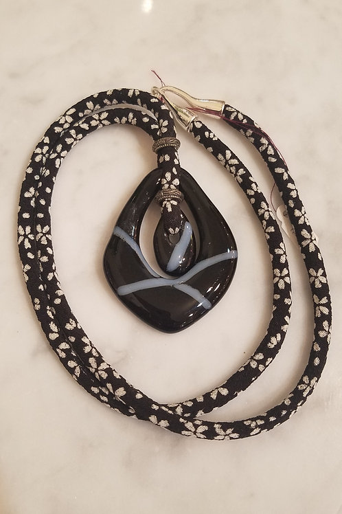 Glass Pendant with Obi Chord