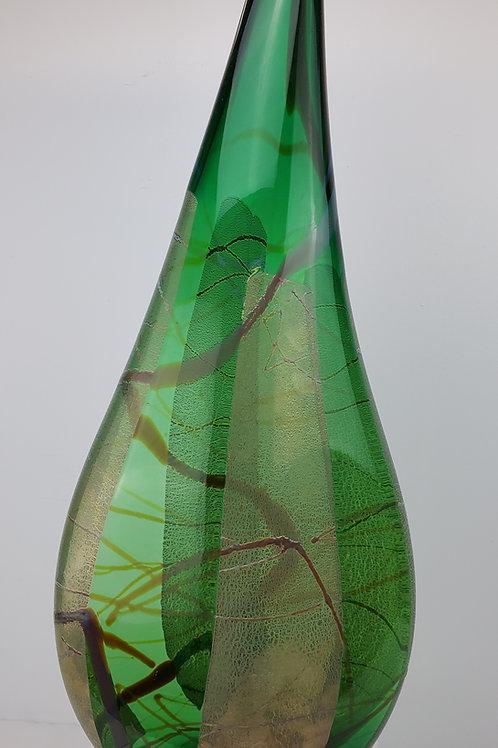Emerald Teardrop Vase