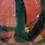 Thumbnail: Tall Red & Black Slender Neck Vase