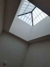 Skylight above the stairs