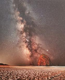 Milkyway Over Hay Stack Rock