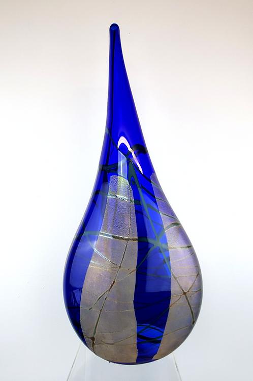 Cobalt Blue Teardrop Vase