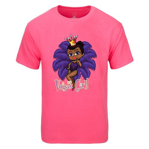 Vegas Girl! Shirt Purple Showgirl
