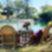 Romantic couples pop up picnic set up, Sunshine Coast