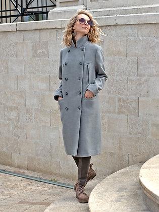 """Пальто """"Милитари"""" серый"""