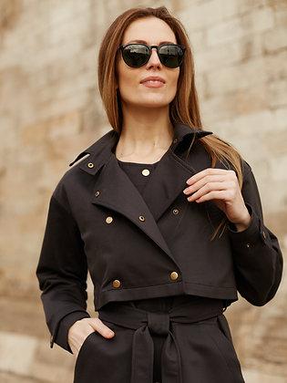 """Комплект """"Тренч"""" (платье + куртка) черный"""