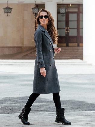 """Пальто """"Шинель"""" серый"""