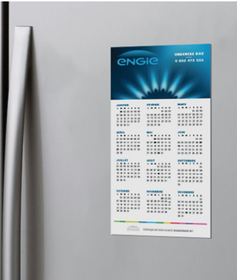 Calendrier magnet 2020