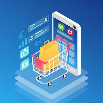 Download Isometric Smartphone And Shopping Cart With Bag for free.jpg