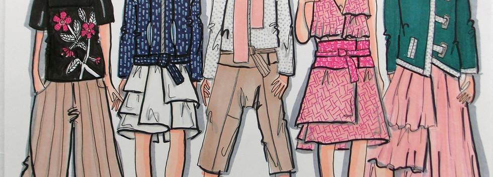Sayonara Fashion Illustarations