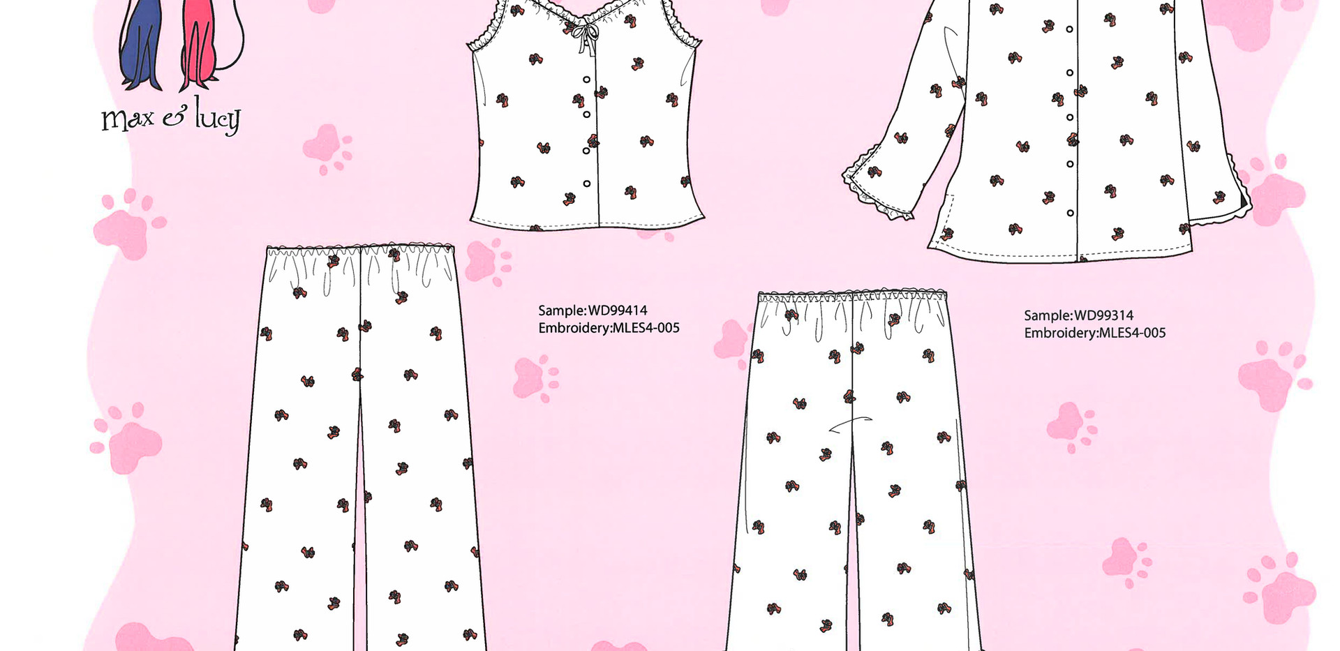 Max & Lucy Loungewear Designs