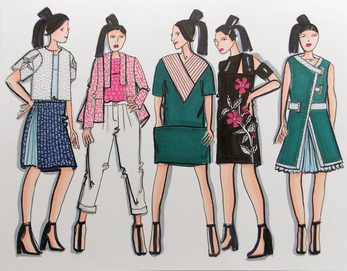 Sayonara Fashion Illustrations