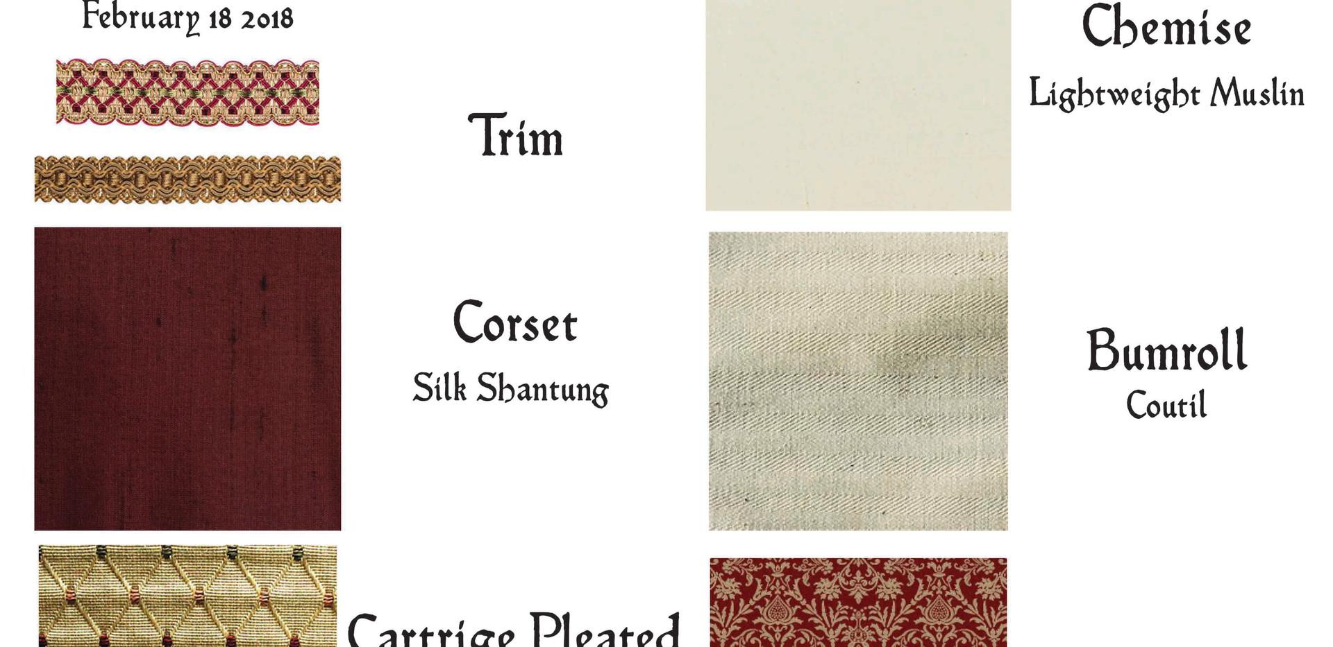Renaissance Costume Construction Fabrics