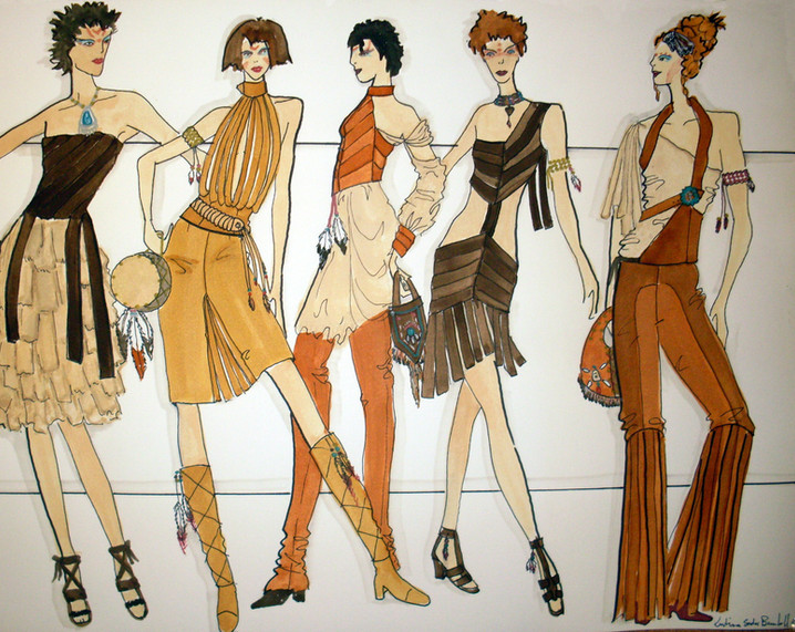 Sprit Collection Fashion Illustration