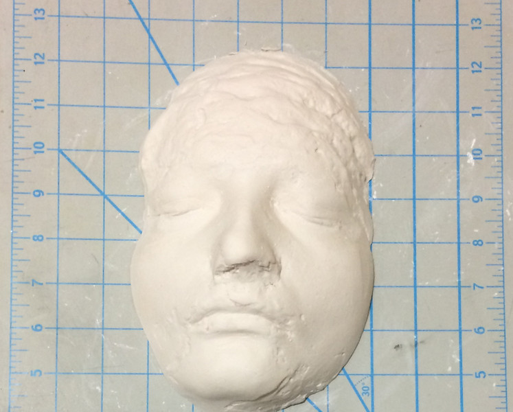 Plaster cast from mold