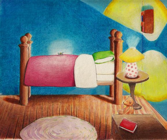 watercolors, pencils, guache