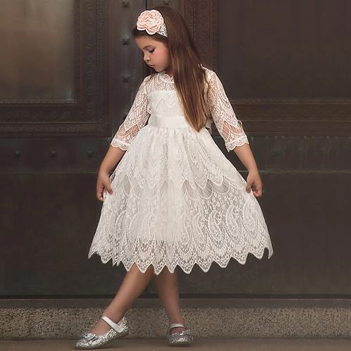 Half-Sleeve Lace  Elegant Dress