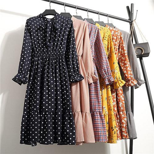 Teen/Adults Polka Dot Vintage Autumn Dresses