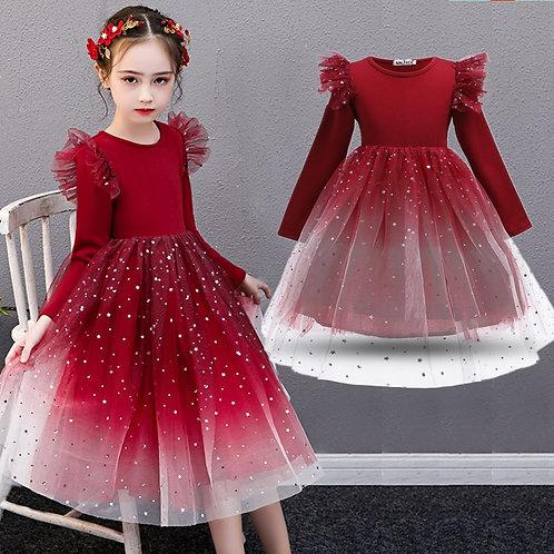 Formal  Long Sleeve  Dress f