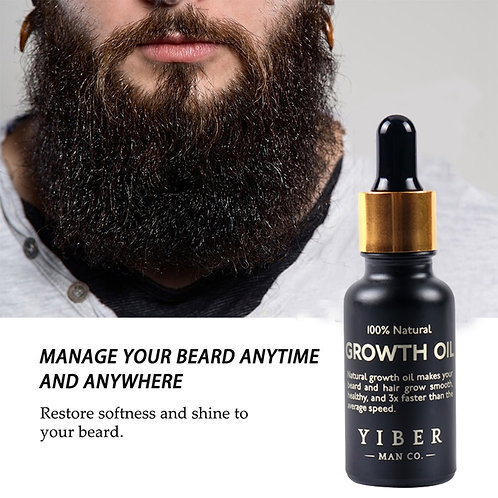 Men Beard Growth  Oil Kit Soften Hair Growth