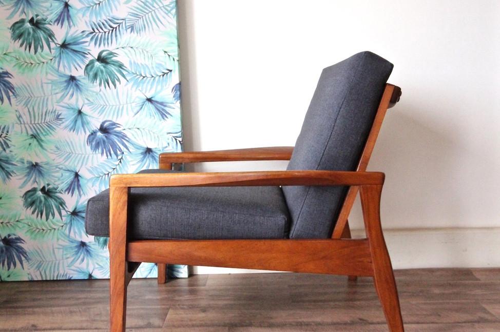 Mid Century teak armchair