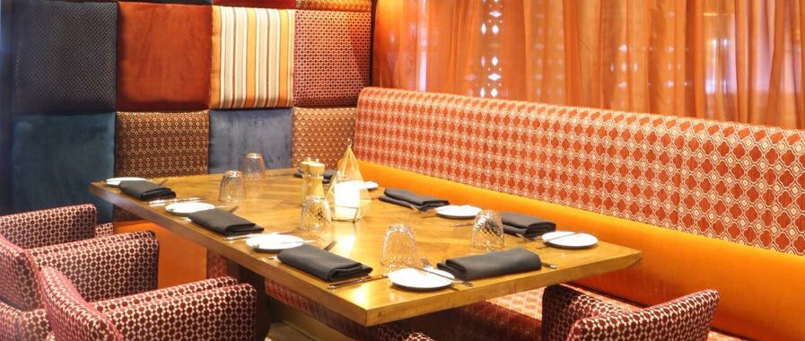 Upholsered booths, dining chairs & wall panels