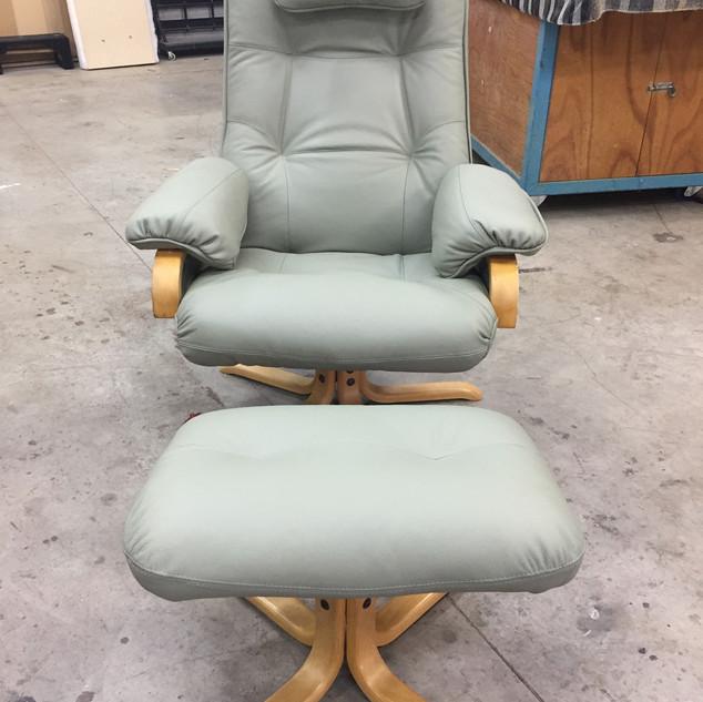 Leather recliner restoration