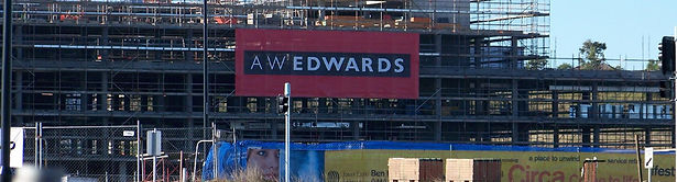 building sign mesh banner