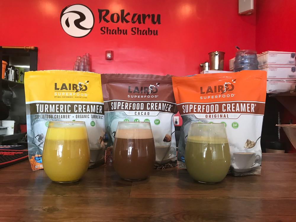 Laird Superfood creamers Rokaru Shabu Shabu