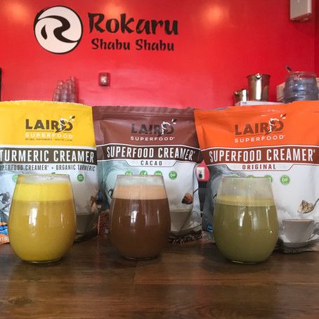 Rokaru Shabu Shabu Now Serving Laird Superfood Coffee