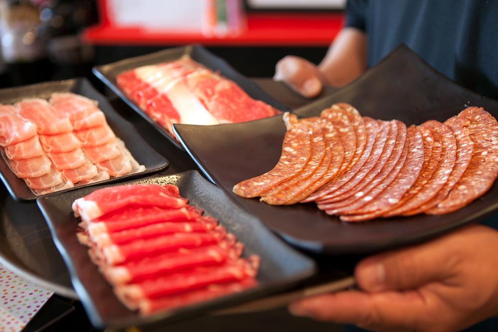 Shabu Shabu fresh meats rib eye 2 lady farmers pork