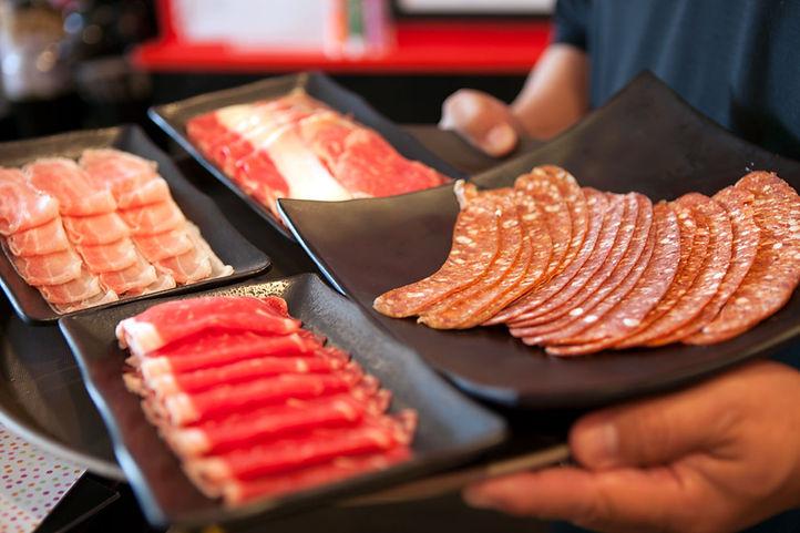 Fresh shabu shabu meats