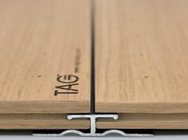 Стык панелей c кромкой step и профилем seam