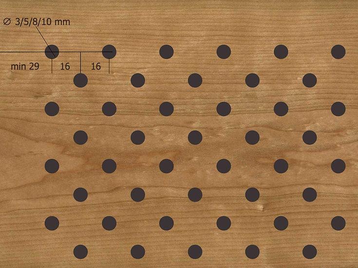Акустическая панель TAGinterio™ D4/8/10-32x16 (цена m2)