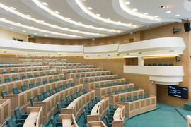 Москва зал заседаний Совета Федерации РФ