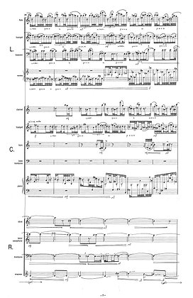 Eruptive Plains (1999) for an ensemble of winds piano and percussion (2)