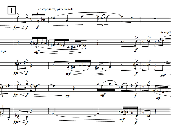 Character Piece (1996) for brass quintet