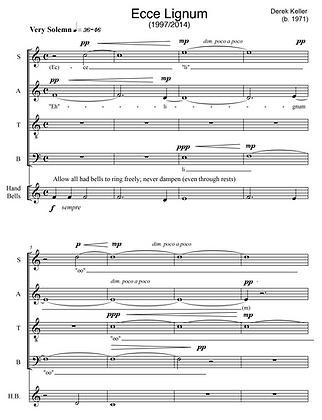 Ecce Lignum Crucis (1997/2014) for choir a cappella (and optional handbells)