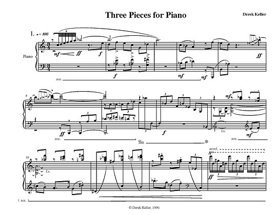 Three Pieces for Piano (1996)