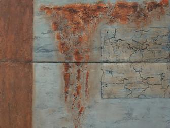 "Finished: 2-luik 50x100cm, titel ""Gesteente"""