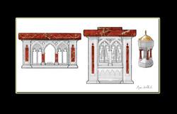 Conceptual art Altar Ambo FONT
