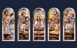 Last Supper sanctuary windows
