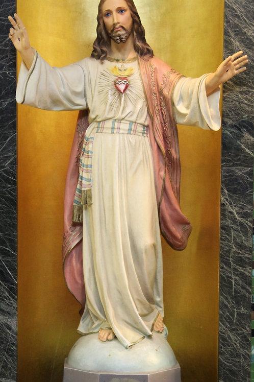 Sacred Heart of Jesus Plaster Statue