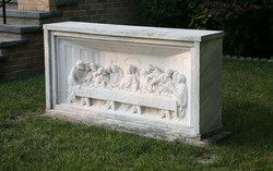 Existing marble Last Supper