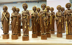 Reredos statuary after